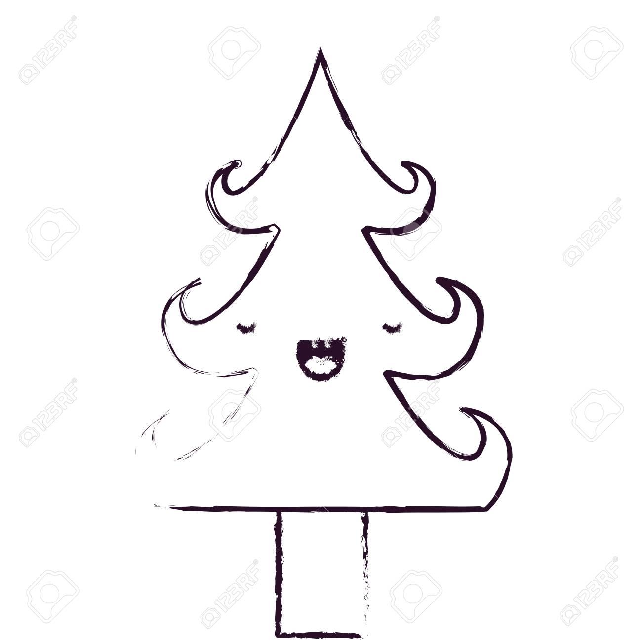 Immagini Natalizie Kawaii.Albero Di Natale Kawaii Disegni Di Natale
