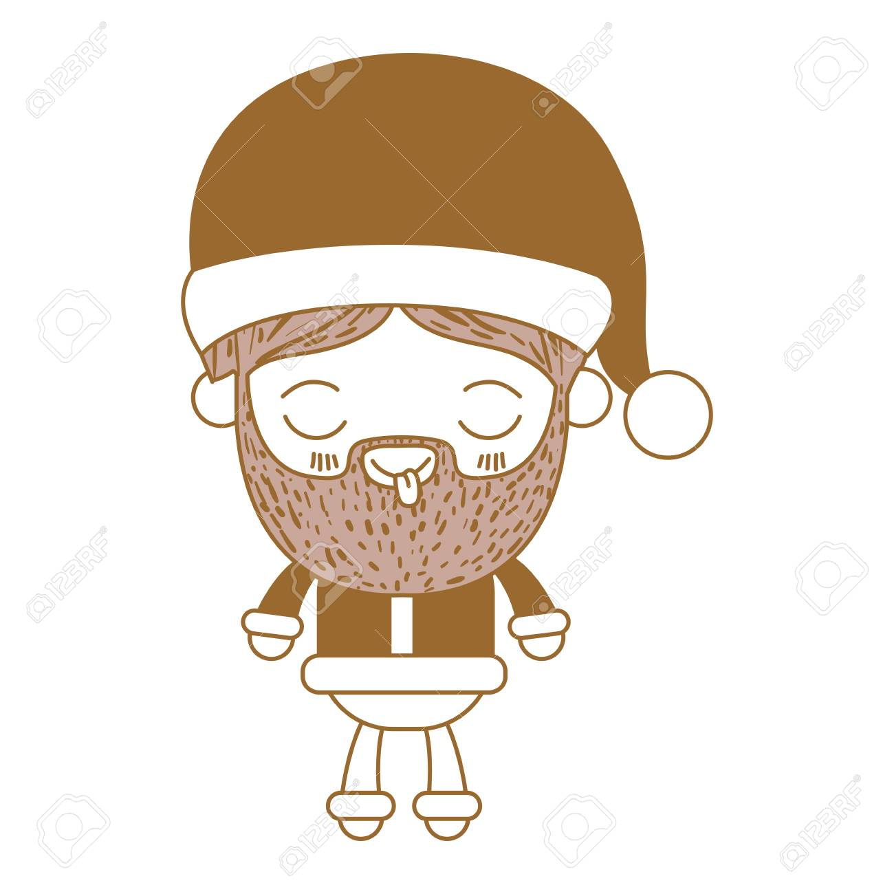 Ojos De Dibujos Animados De Cuerpo Completo De Santa Claus Hombre
