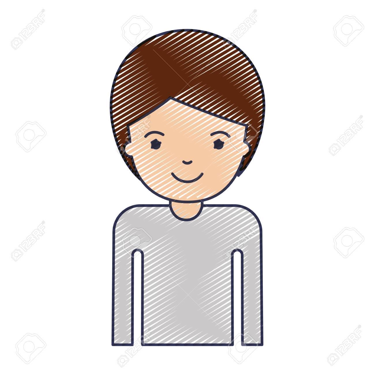 イラスト 短髪