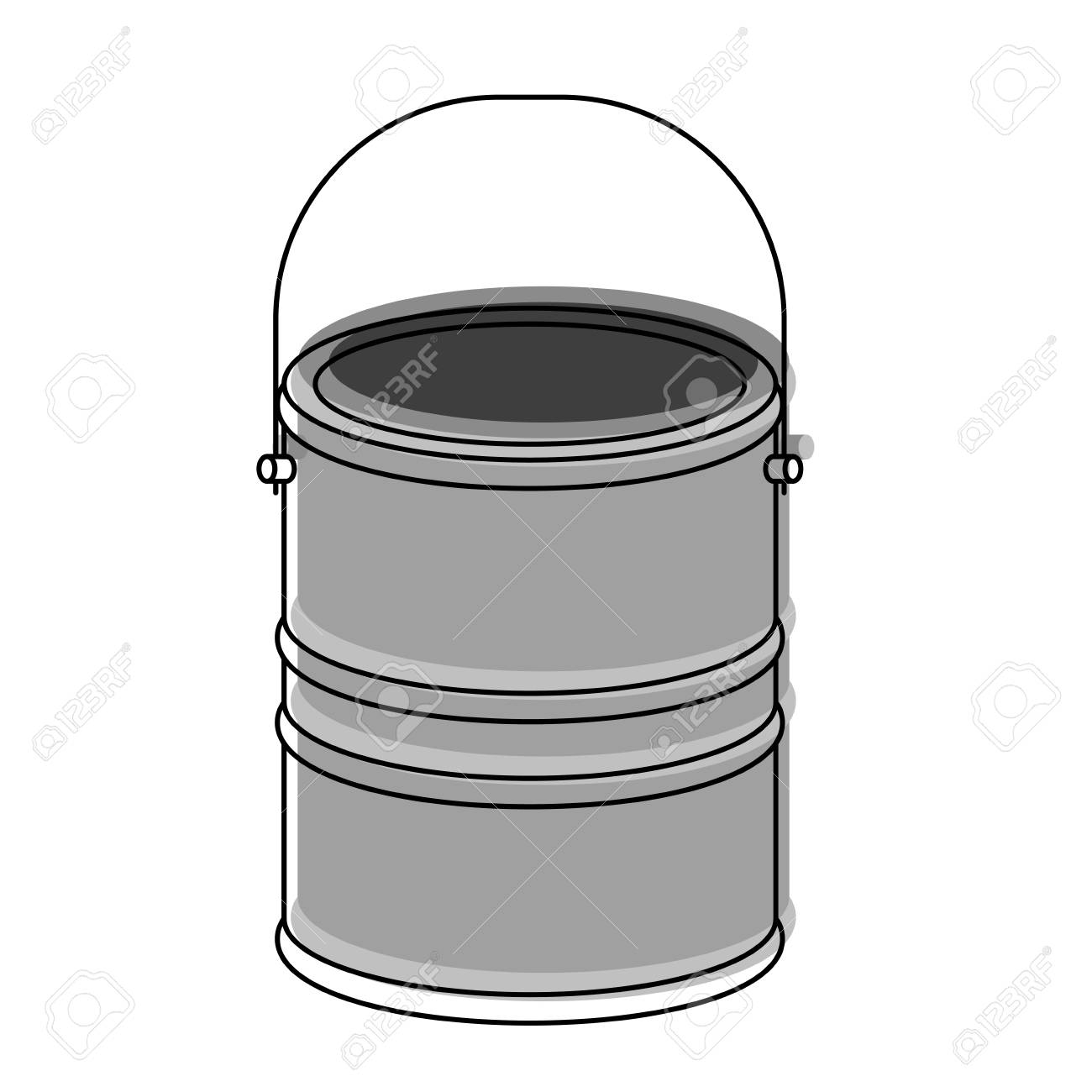 Paint Bucket Draw Button Tool Design Art Vector Illustration Royalty ...