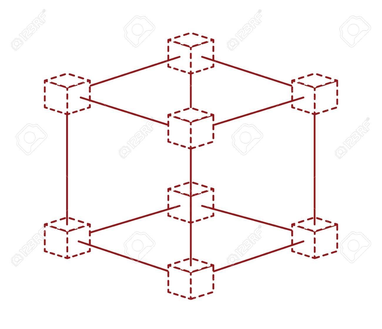 cubic matrix geometric icon vector illustration design stock vector -  96826579