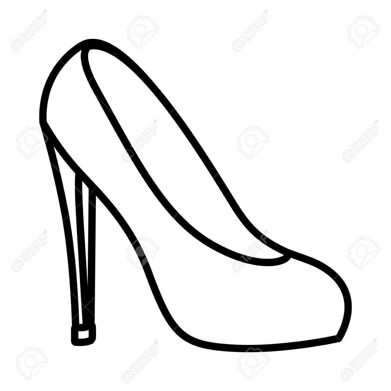High Heel Shoe Pop Art Icon Vector Illustration Design Royalty Free