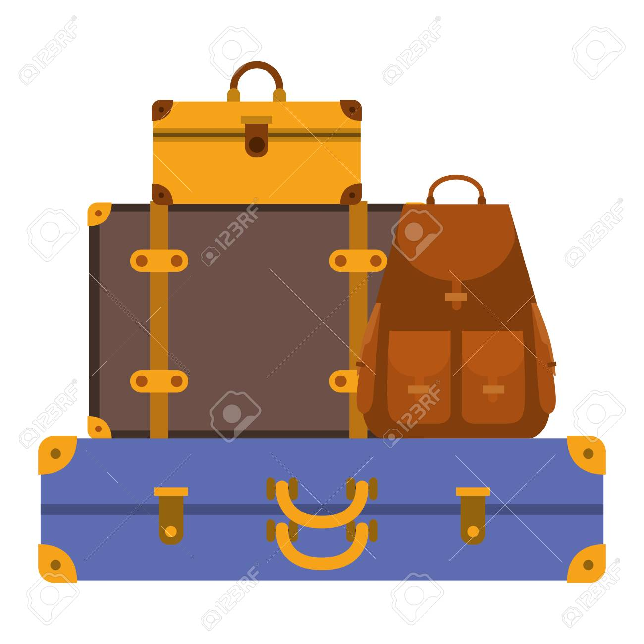 suitcases bags pile isolated icon vector illustration design - 110347297