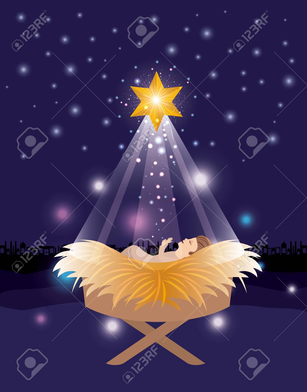 Merry Christmas Jesus.Merry Christmas Card With Jesus Baby
