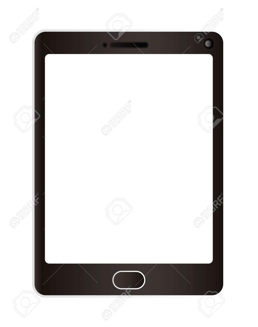 tablet design, Digital technology communication social media internet web and wireless theme Vector illustration - 154137682