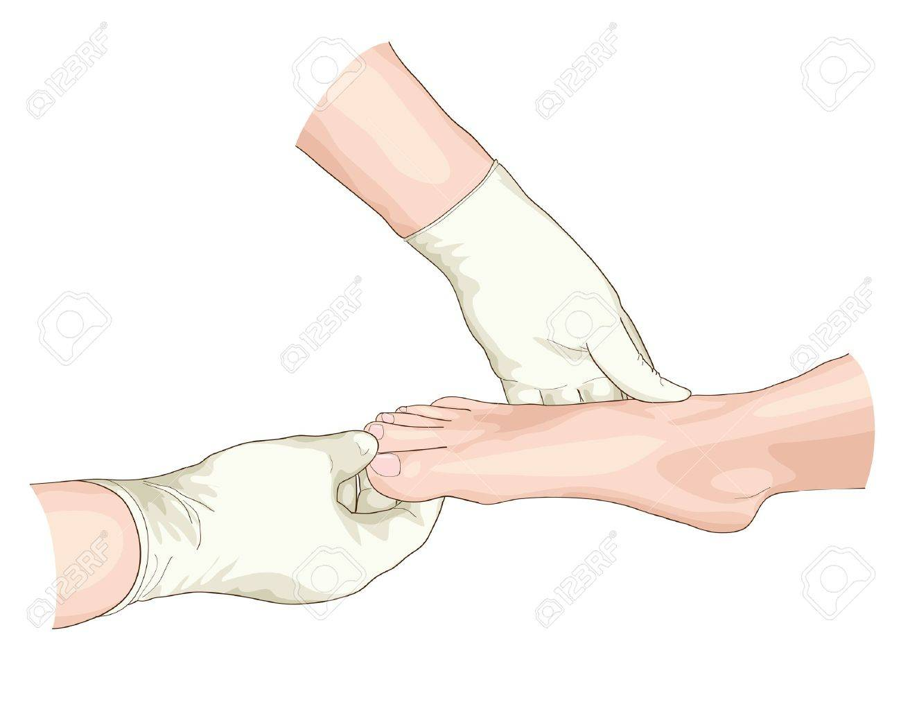Examination of the foot. Vector illustration. Stock Vector - 18756911