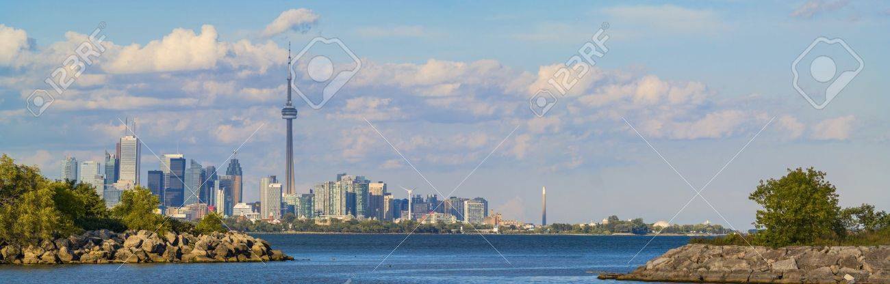 Long panorama of Toronto and lake Ontario. Stock Photo - 15157558