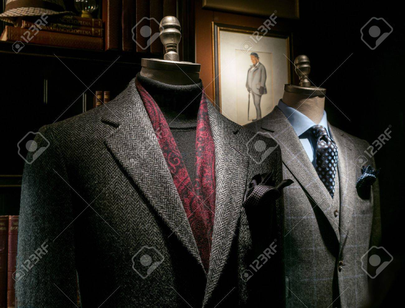 Two mannequin in a tailor Stock Photo - 15983942