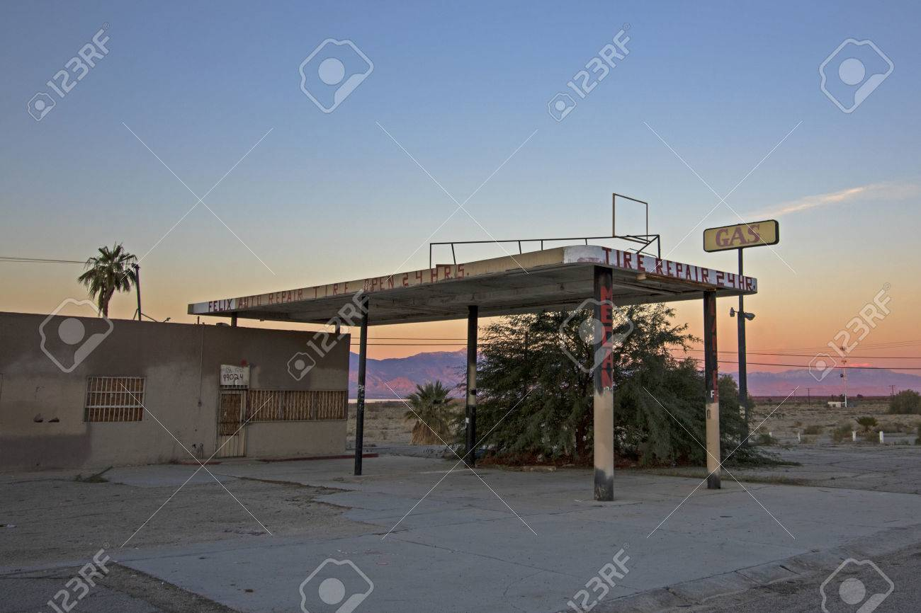 Desert Abandoned Gas Station At Salton Sea Stock Photo Picture And Royalty Free Image Image 70731404