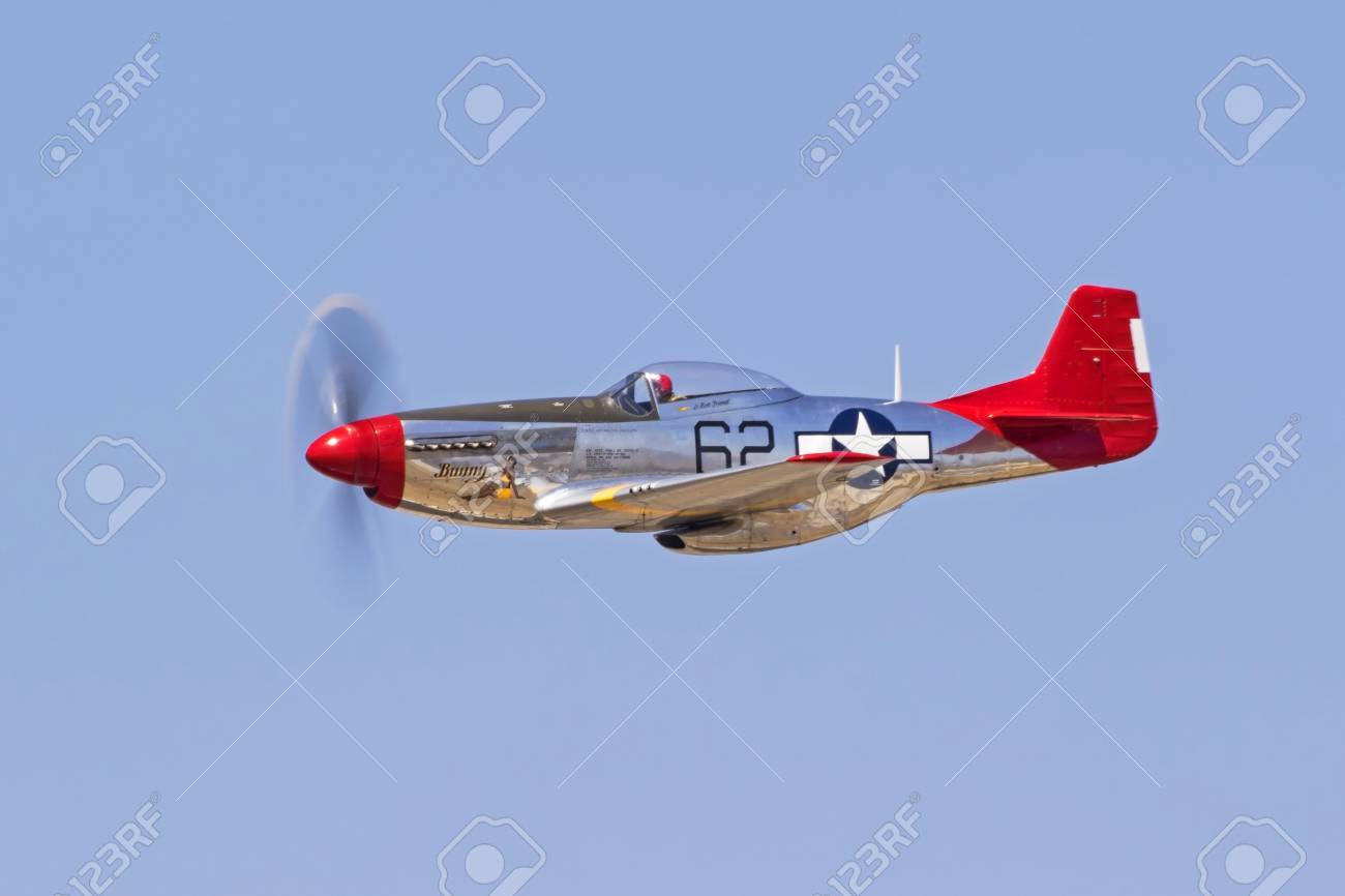 Airplane P 51 Mustang Red Tail