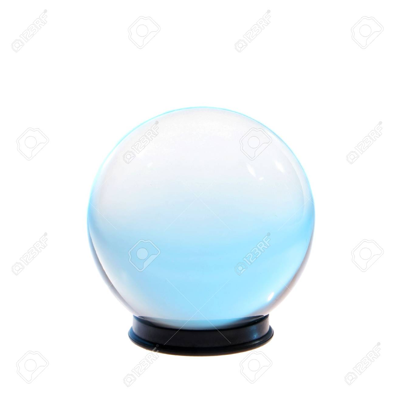 Crystal ball with turquoise light inside isolated on white Stock Photo - 4699873