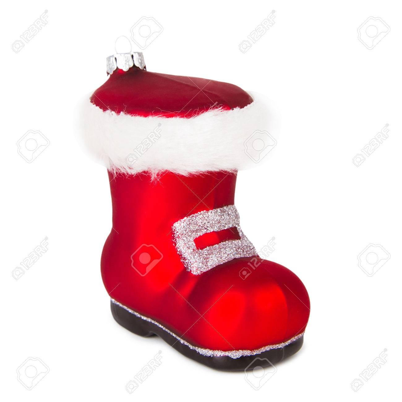 blanc fond Noël Père Décoration la botte du sur rouge Noëlisolé de wkXiOZTPu