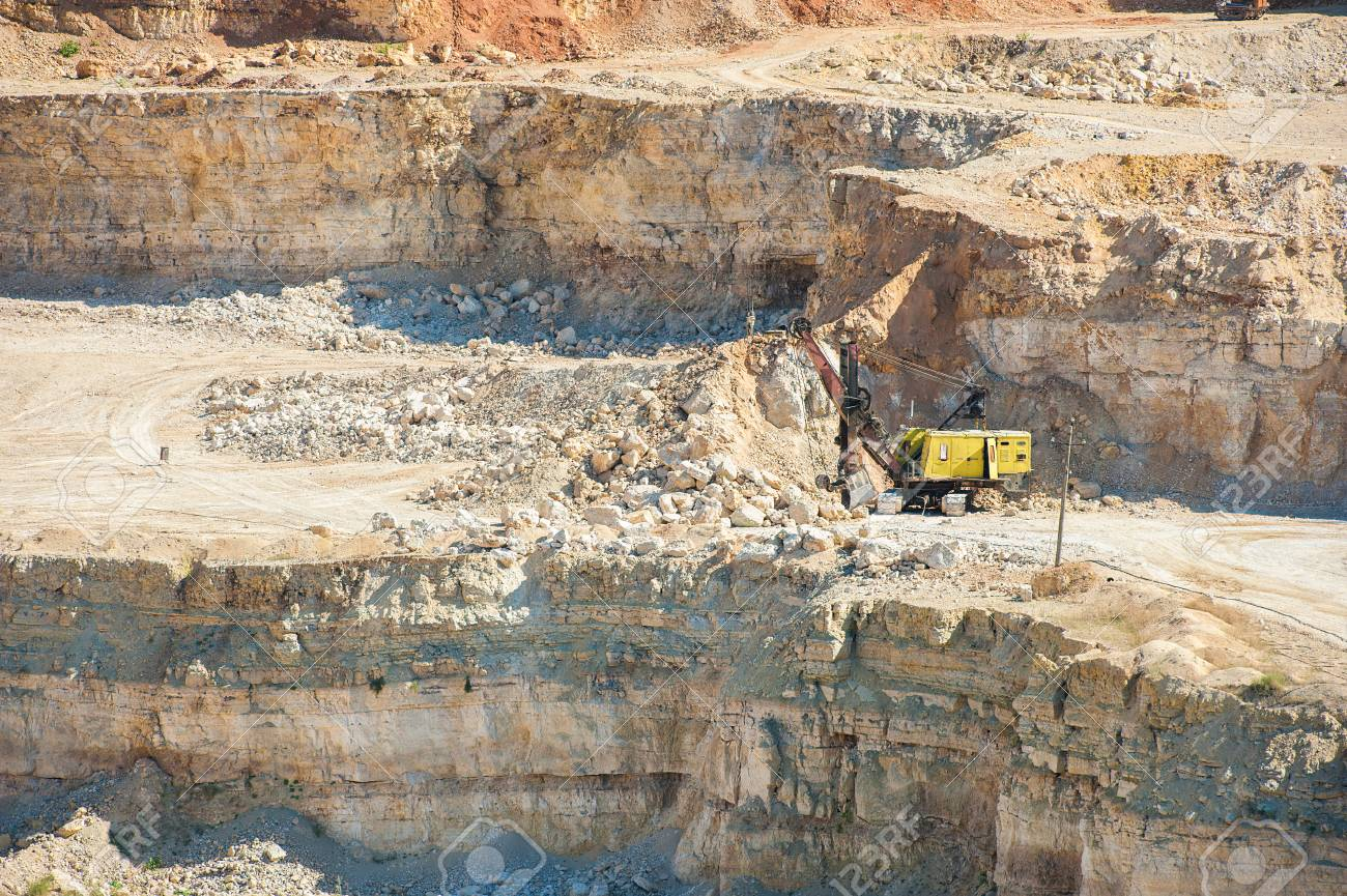 Mining, quarrying, and production of stone at a forsaken quarry