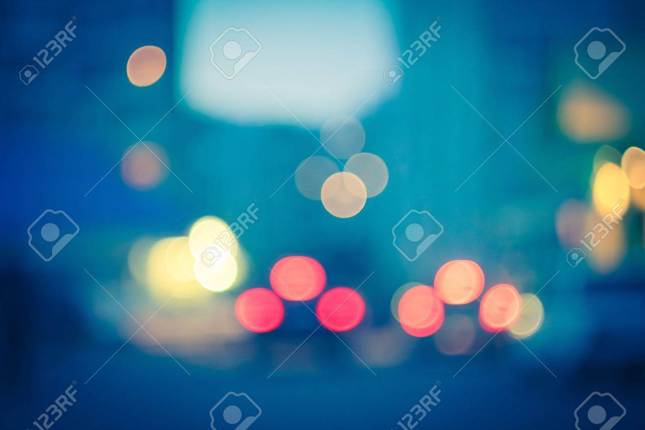 Street Lights Out Of Focus Stock Photo - 16023584
