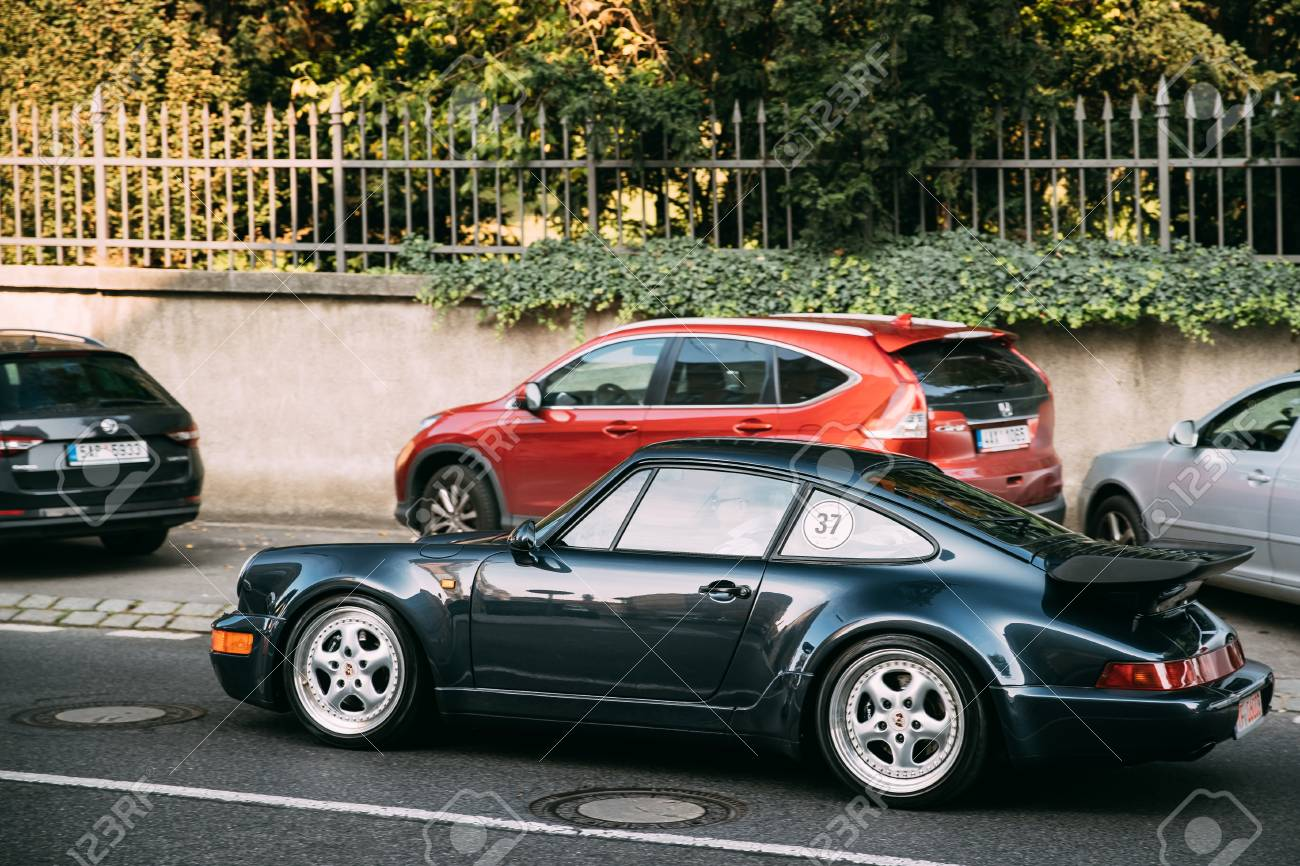 Side View Of Porsche 964 Turbo Of Midnight Blue Metallic Car Stock Photo Picture And Royalty Free Image Image 90897743