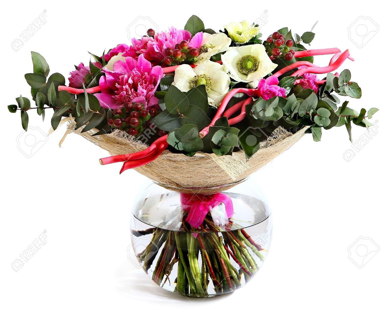 Design a bouquet of pink peonies white flowers and hypericum design a bouquet of pink peonies white flowers and hypericum pink flowers mightylinksfo