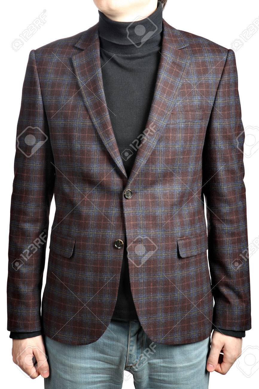 Mens Woolen Suit Blazer Checkered, In Combination With Jeans ...