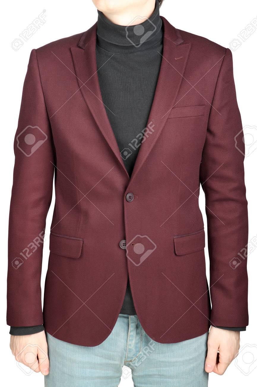 Abrigo con pantalon de mezclilla hombre
