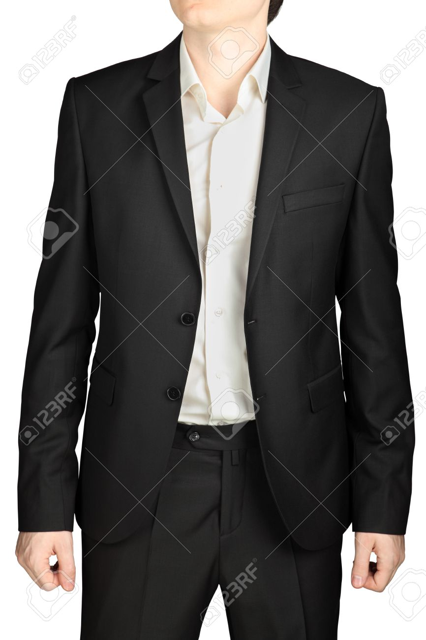 Dark Gray Wedding Suit, Unbuttoned Jacket, White Shirt, No Tie ...