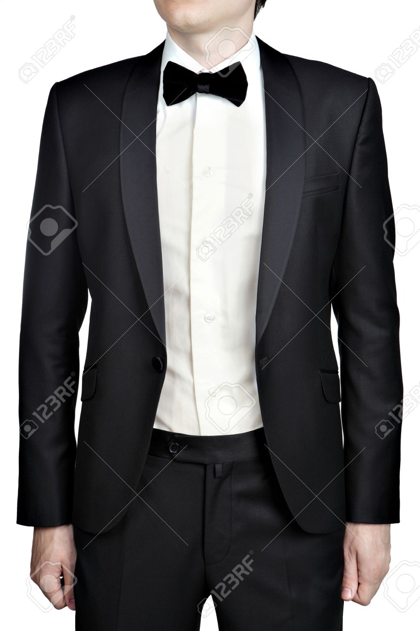 Black Men Wedding Unbuttoned Suit Jacket, Tie And Shirt With ...