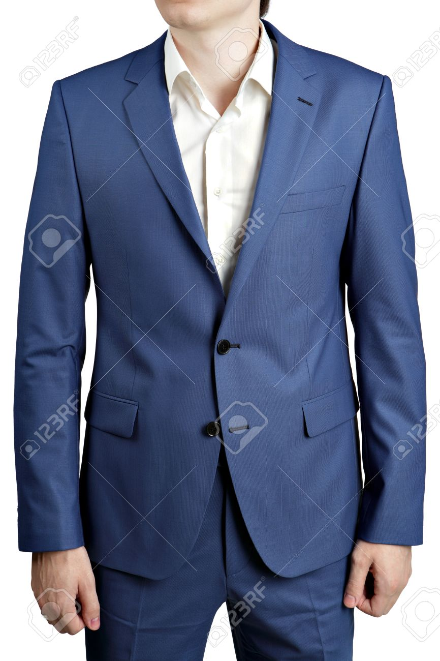 b928335a1e7cd Foto de archivo - Los colores de la del océano azul traje de hombre con  estilo