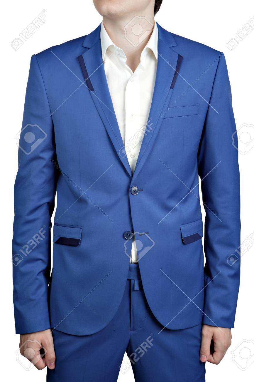 Men\'s Wedding Suit Of Bright Blue Color Trousers And Jacket,.. Stock ...