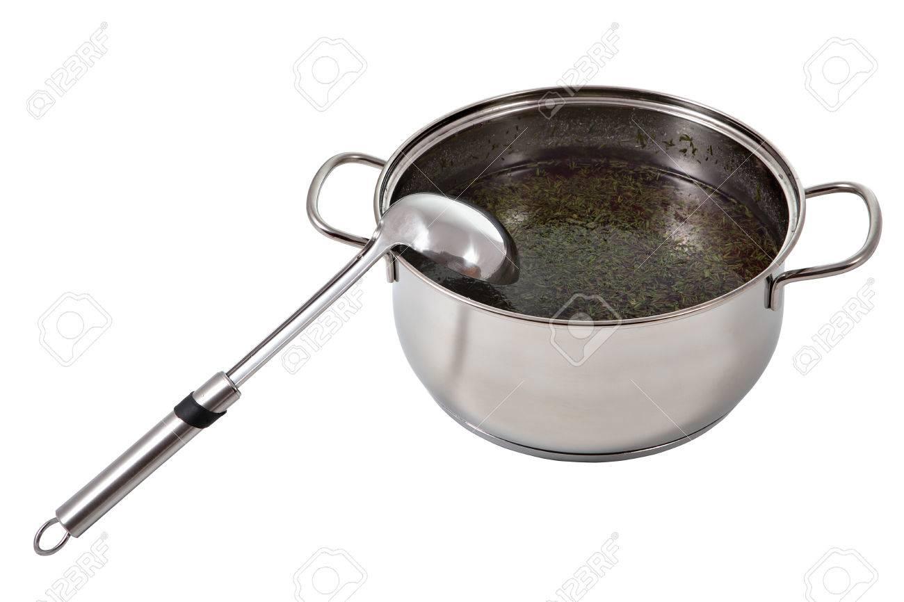 Immagini Stock - Cucchiaio Da Cucina Di Metallo Si Appoggiò Su Un ...