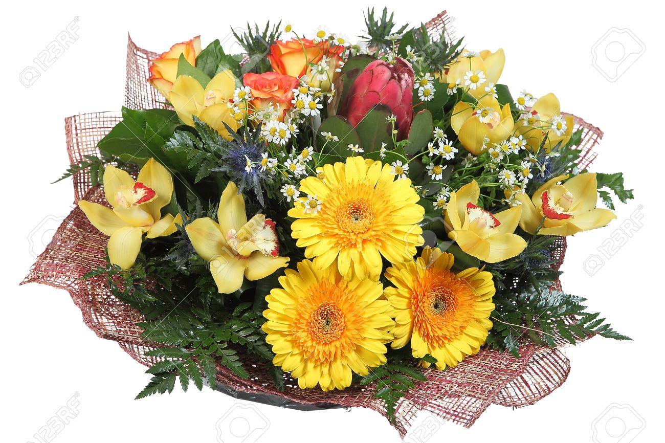 Букеты смешанных цветов фото