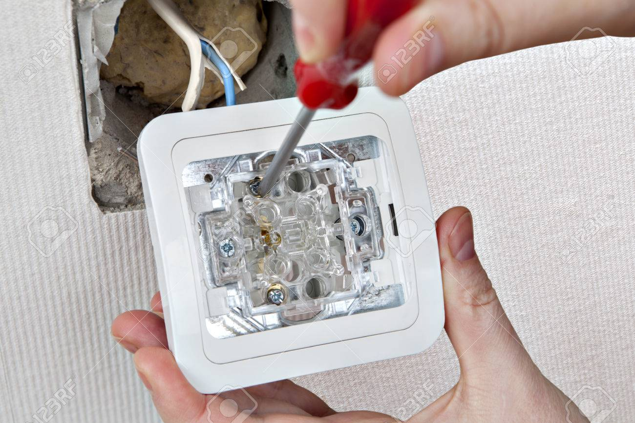 Fix A Defective Light Switch Replacing A Damaged Switch Of ...