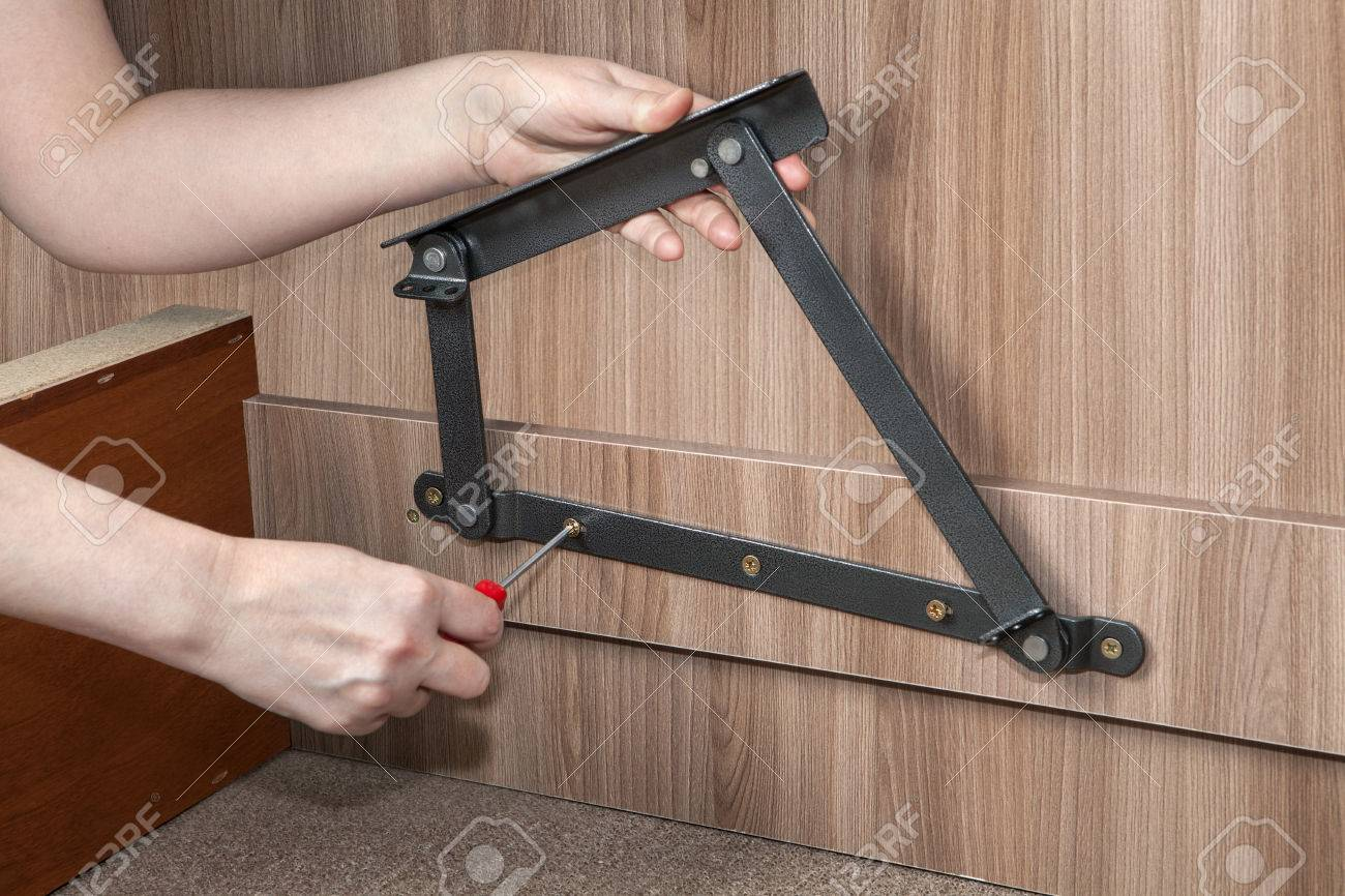 Assembly Folding Bedroom Wooden Furniture Lift Up Bed Frame Stock Photo Picture And Royalty Free Image Image 54858202