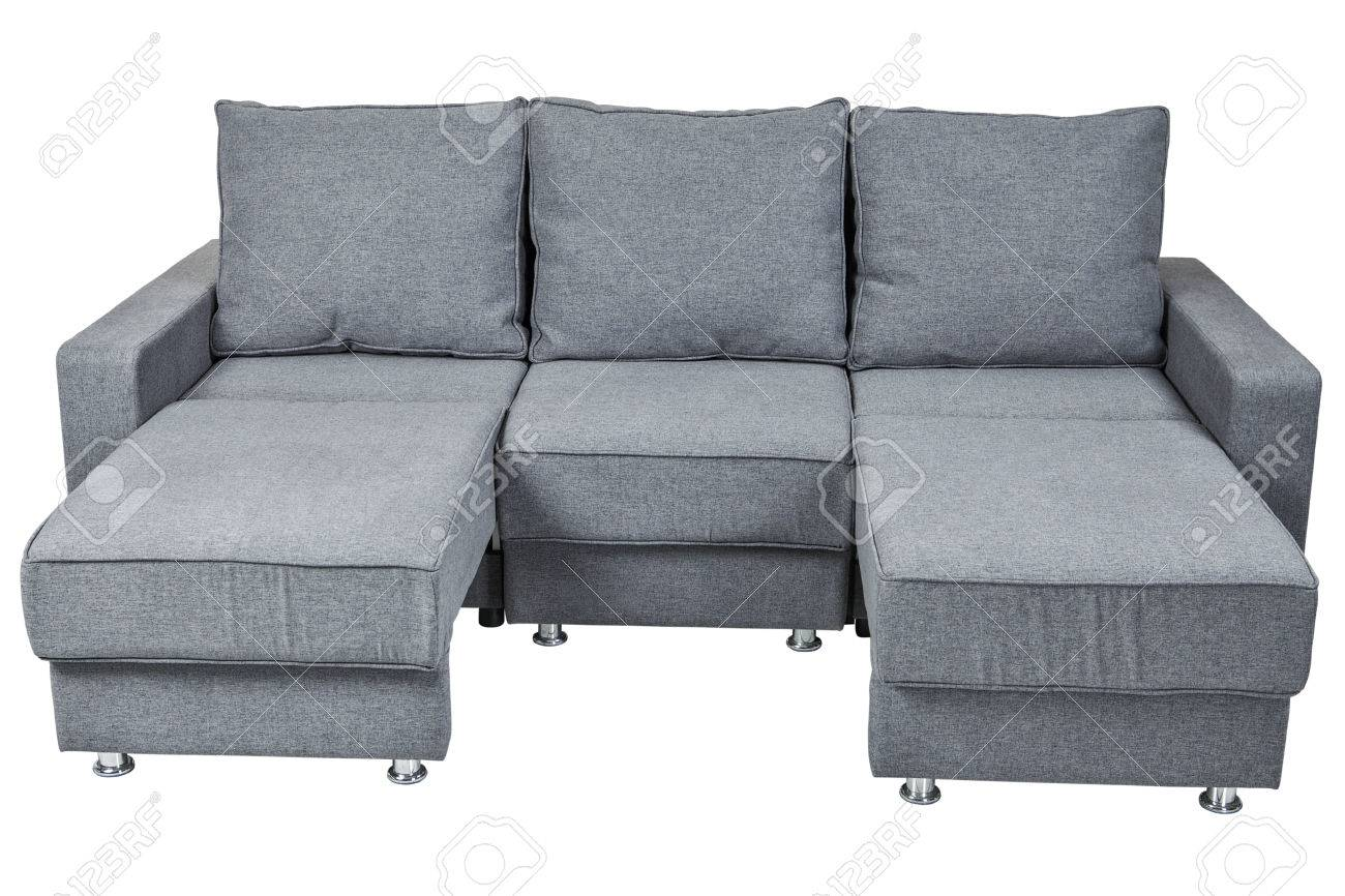Convertible Sofa Bed With Color Grey Isolated On White Background