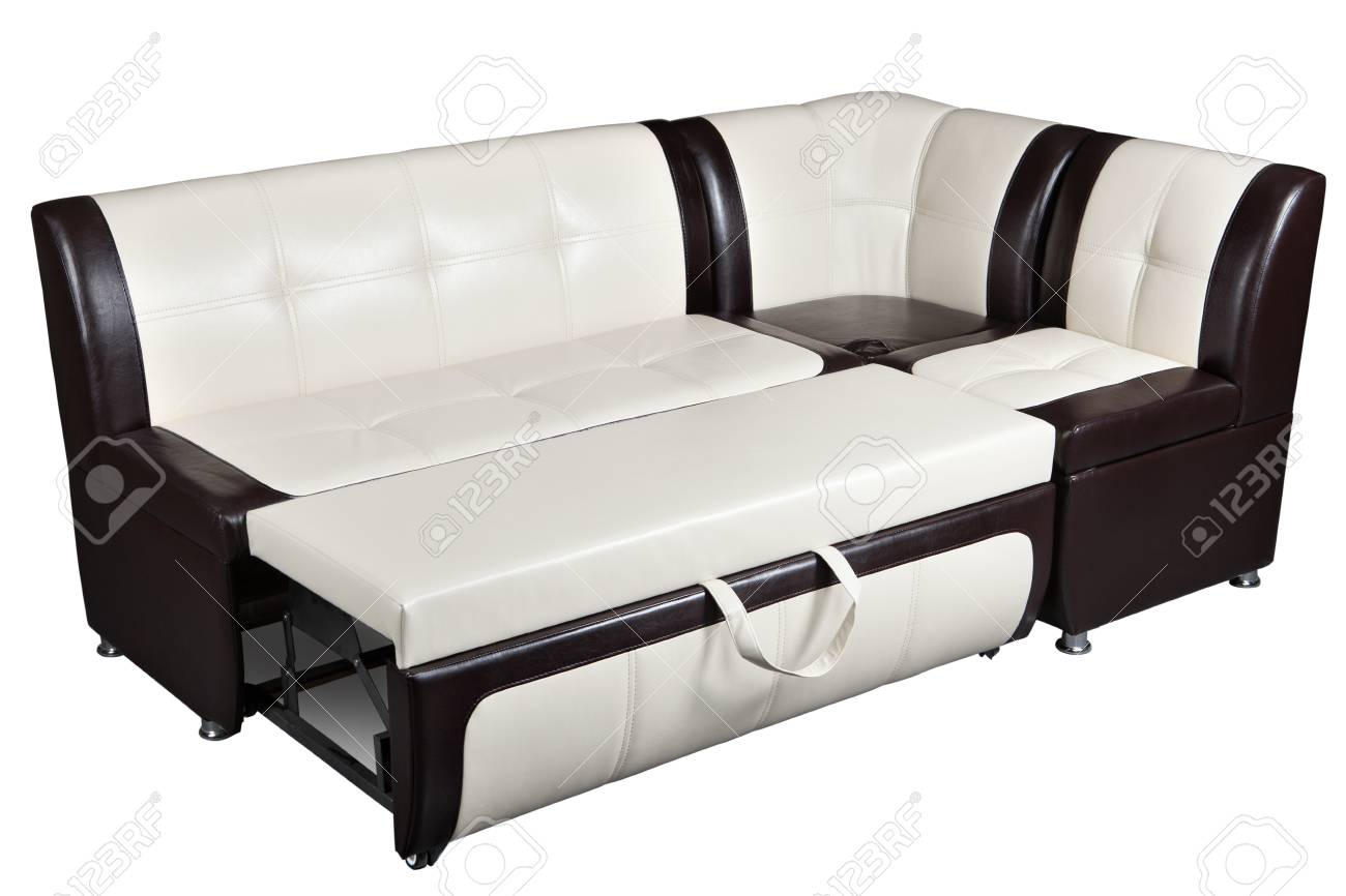 Convertible Corner Sectional Sofa Bed In Imitation Leather ...