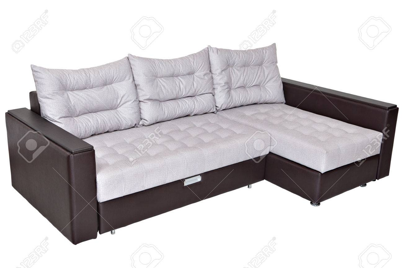 Corner Convertible Sofa Bed With Storage System Upholstery Soft