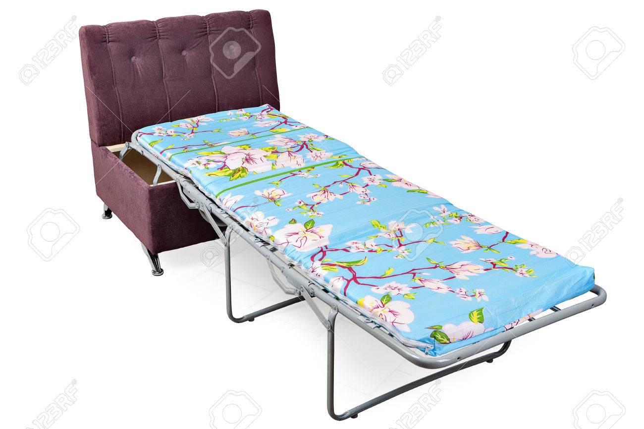 Single Sofa Bed Chair New single sofa bed-chair transform into a single bed pull out armchair,  isolated