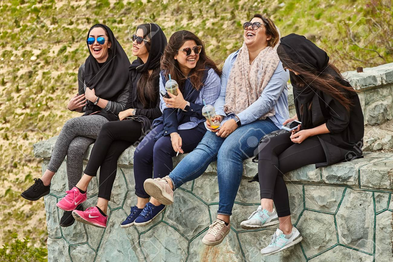 Beautiful happy Iranian girls