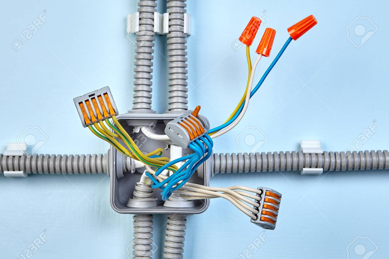Process of mounting electrical junction box with help of twist.. on electrical fire, electrical wire, electrical circuits, electrical receptacle types, electrical repair, electrical energy, electrical conduit, electrical shocks, electrical engineering, electrical fuses, electrical contracting, electrical cables, electrical grounding, electrical box, electrical equipment, electrical tools, electrical diagrams, electrical cord, electrical technology, electrical volt,
