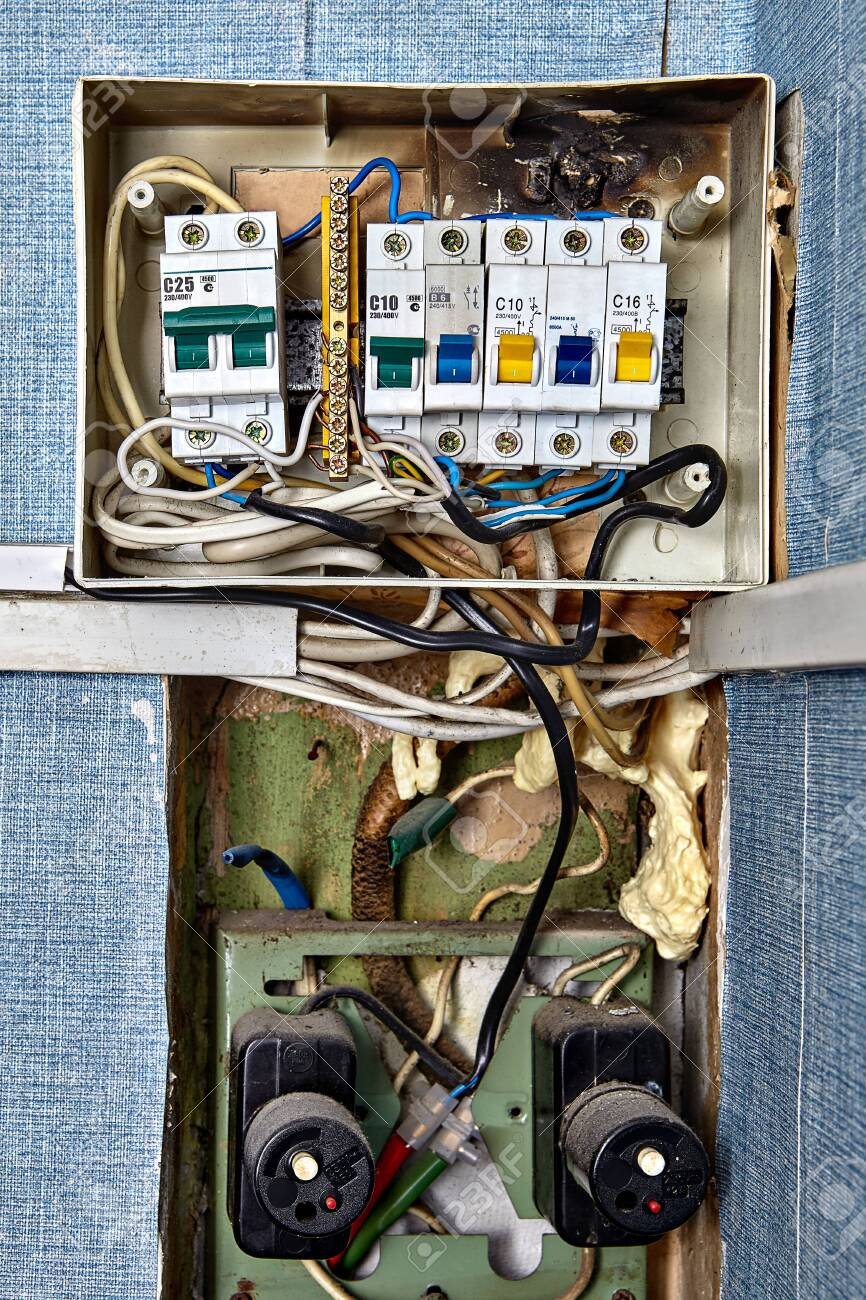 burnt fuse box. fuses and circuit breakers are safety devices ...  123rf.com