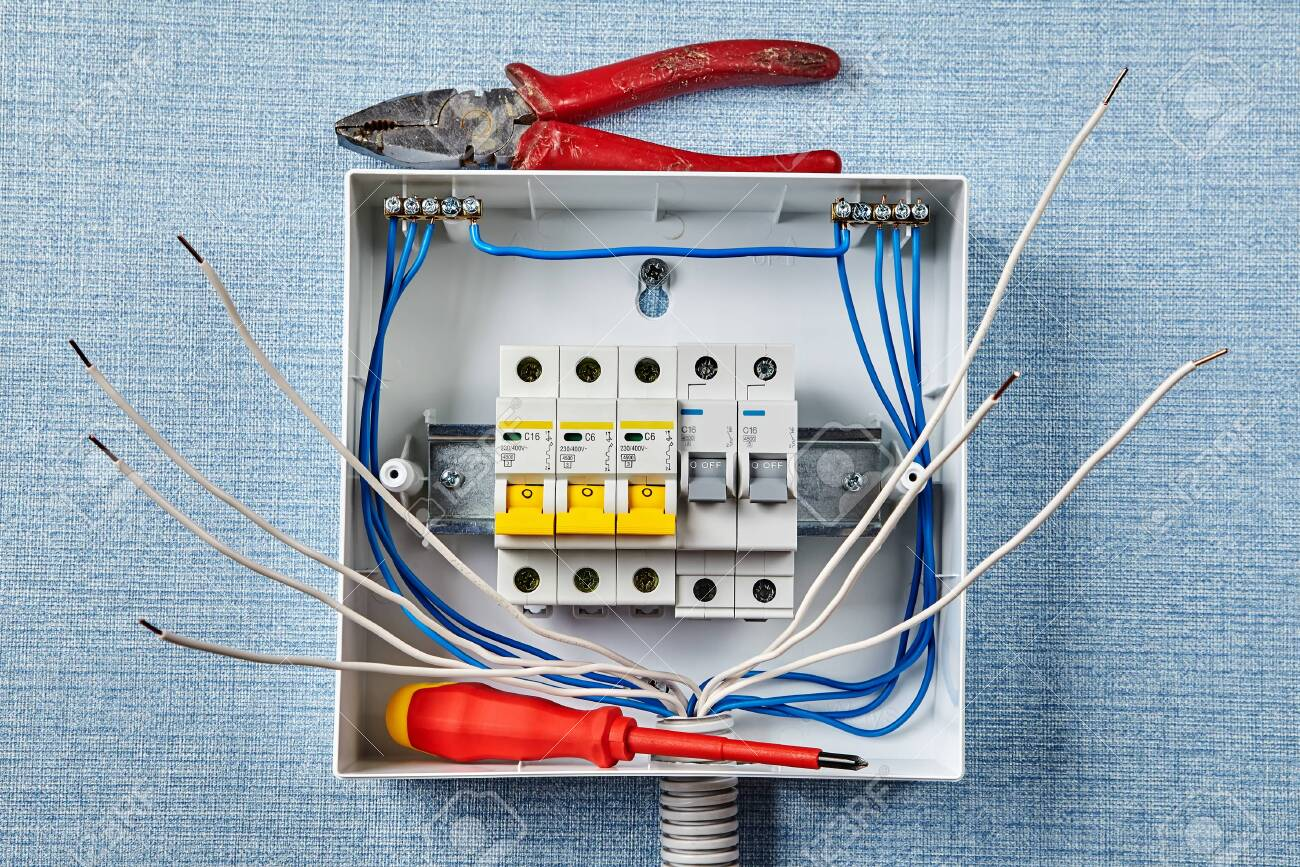 home fuse box wiring installation of a household electrical panel or fusebox with  household electrical panel or fusebox