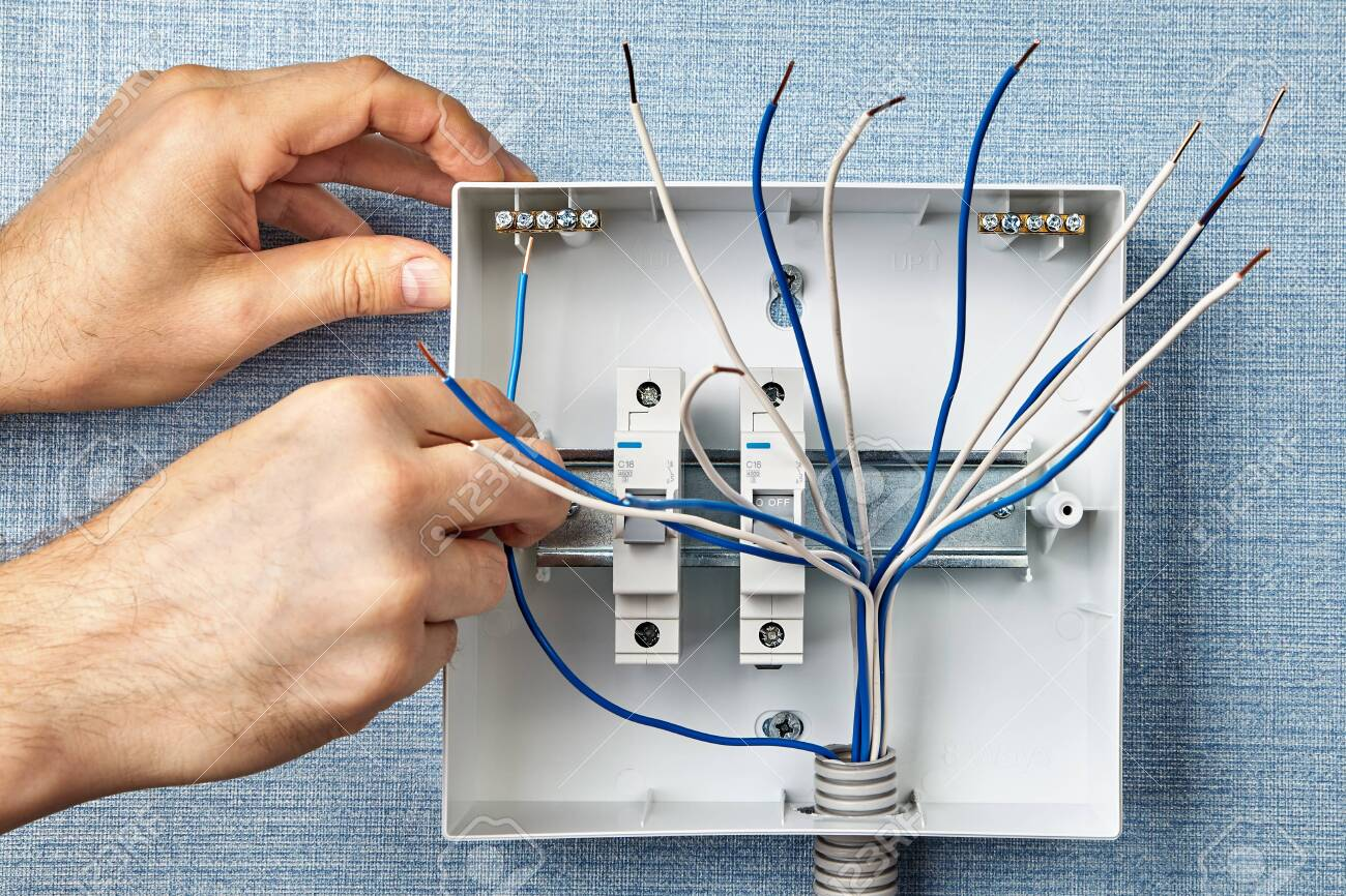 [SCHEMATICS_48EU]  Installation Of An Electrical Cabinet With Automatic Fuses Or.. Stock  Photo, Picture And Royalty Free Image. Image 135674168. | Fuse Box Electrical Supplies |  | 123RF.com