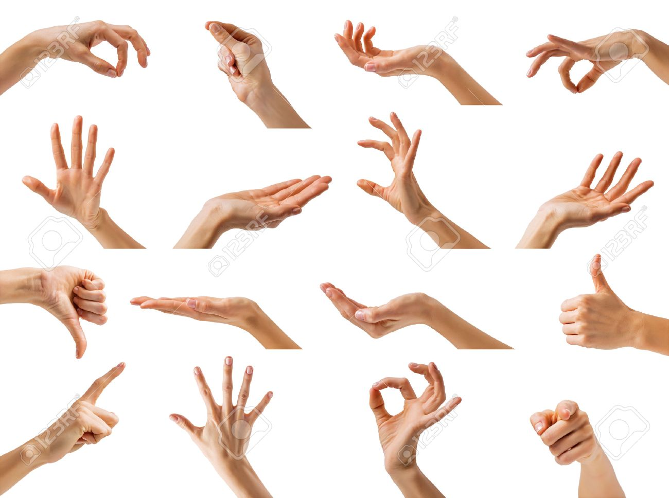 collection of different hands gestures stock photo picture and