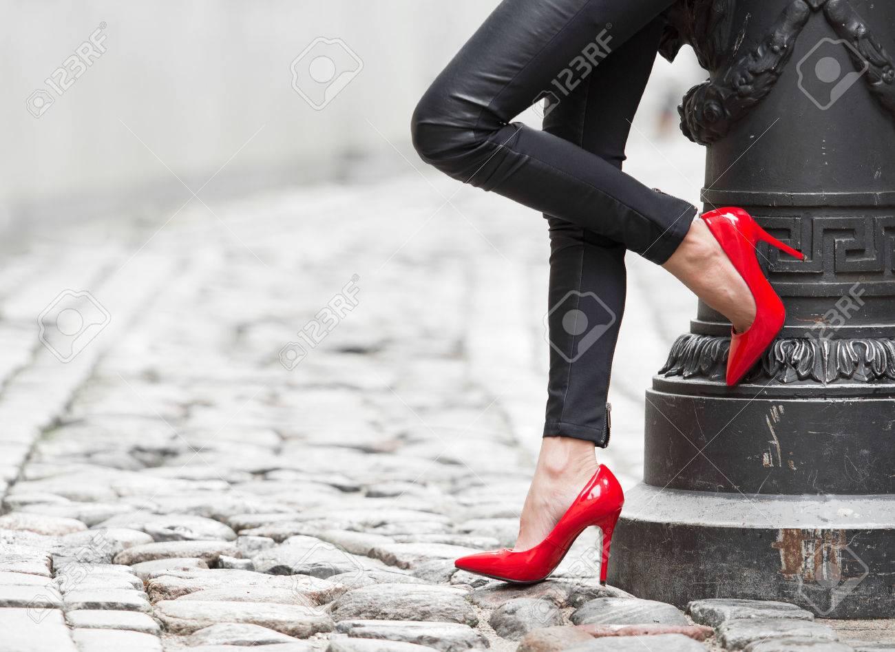 Black Red High Heels