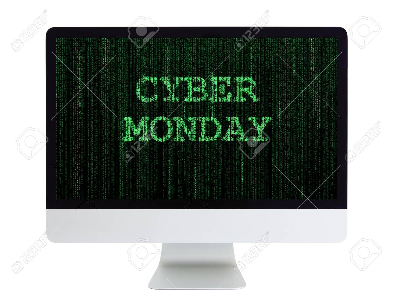 Desktop Computer With Cyber Monday On Its Screen Stock Photo Picture And Royalty Free Image Image 67739309