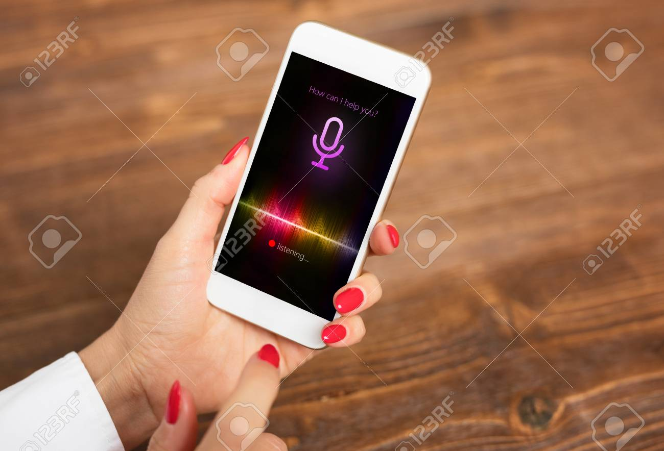 Voice assistant concept on mobile phone - 98174996