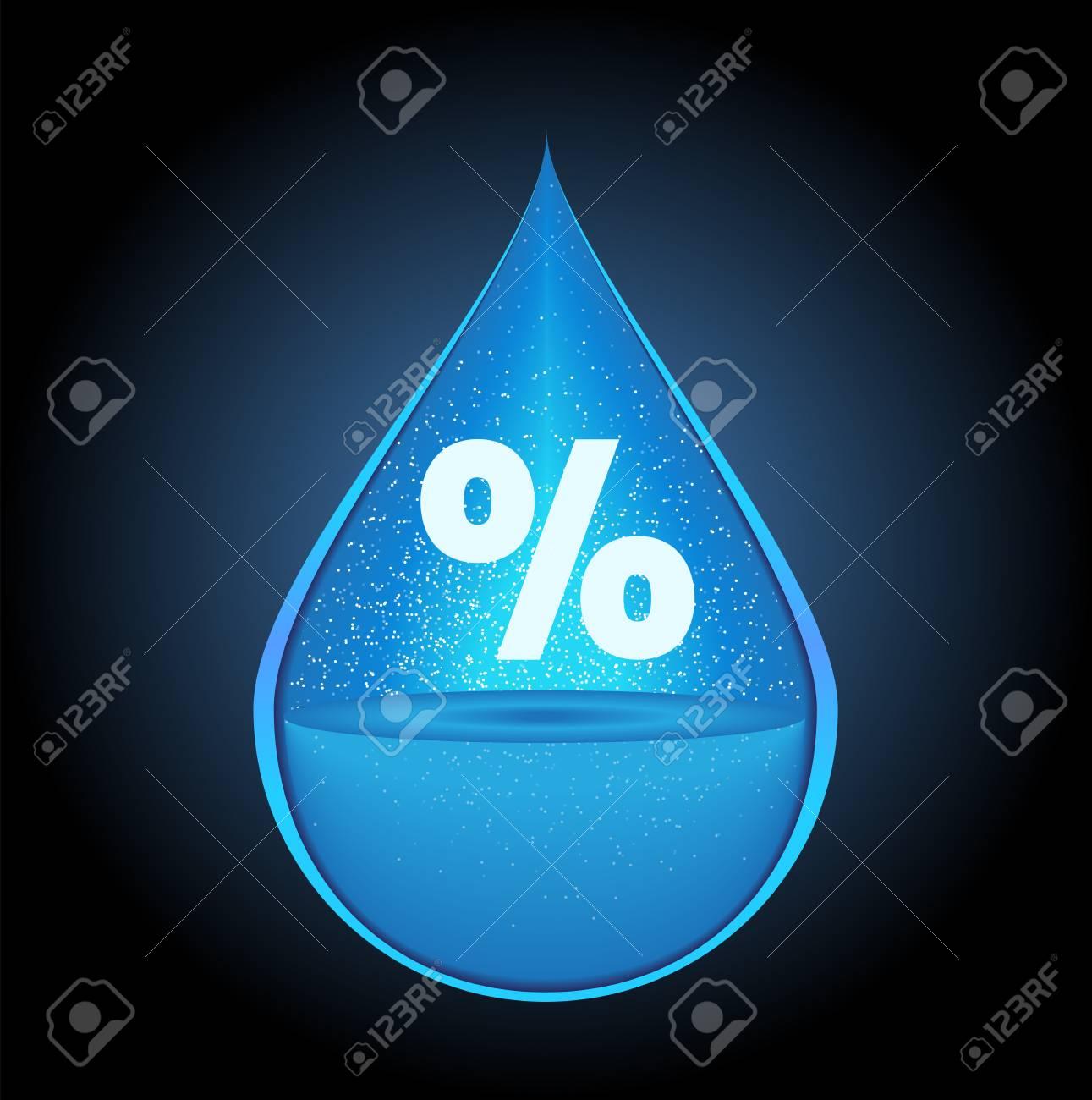 humidity icon vector / drop - 110606853