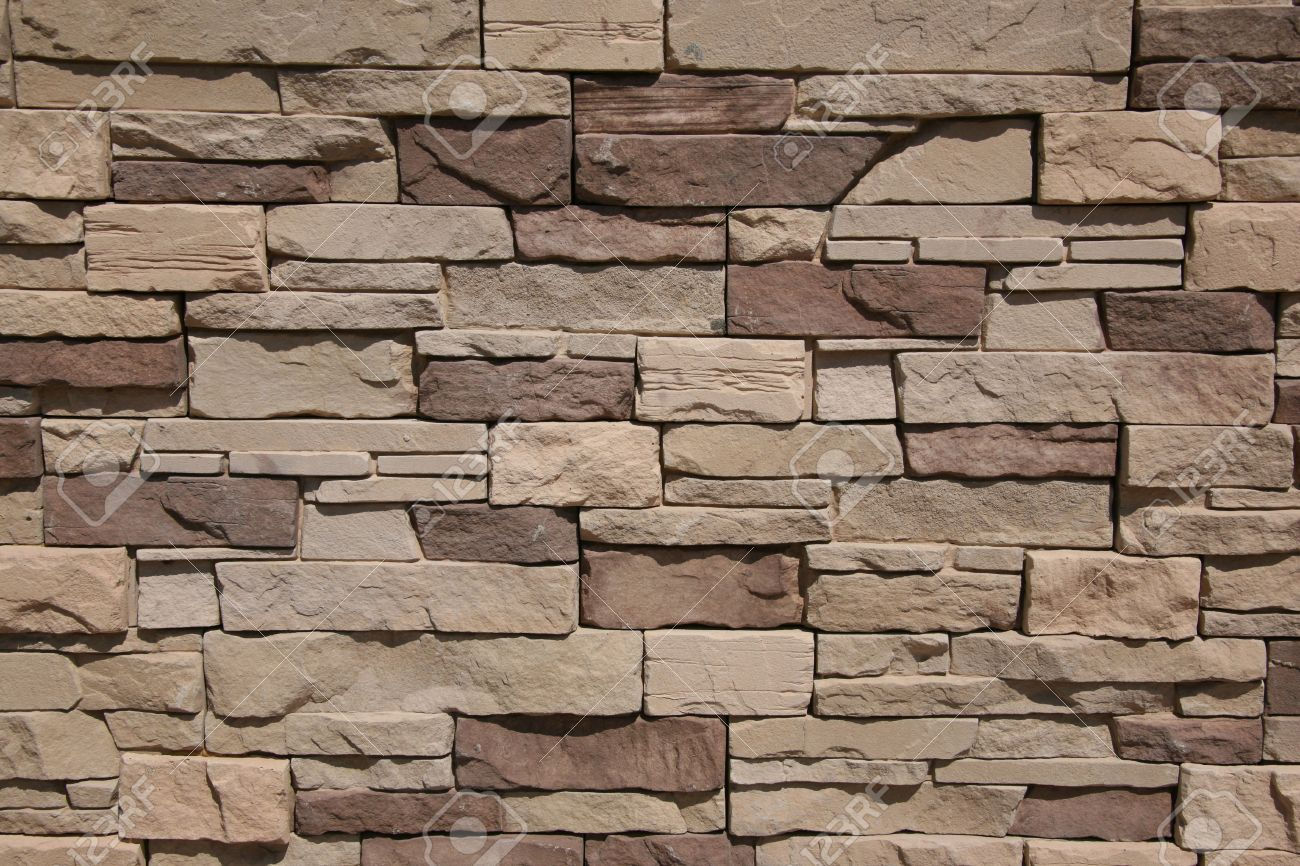 Facing Of A Facade Of A Building Under A Natural Stone Stock Photo ...