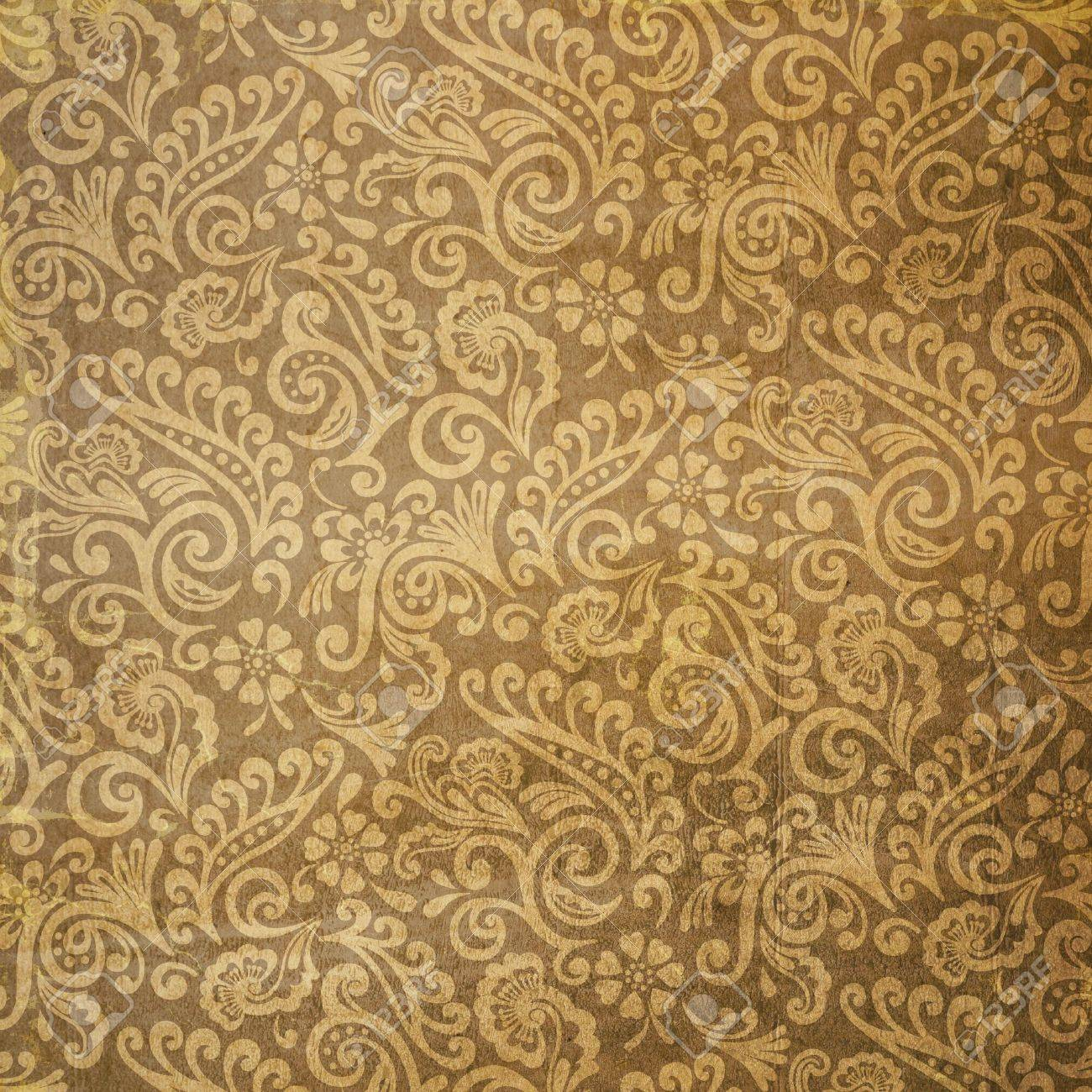Used Vintage Victorian Floral Wallpaper Stock Photo Picture And