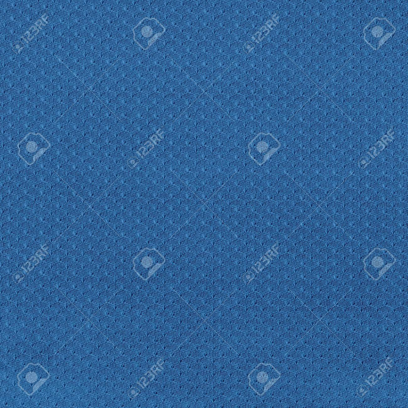 Blue Sport Jersey Mesh Textile Stock Photo - 16707940