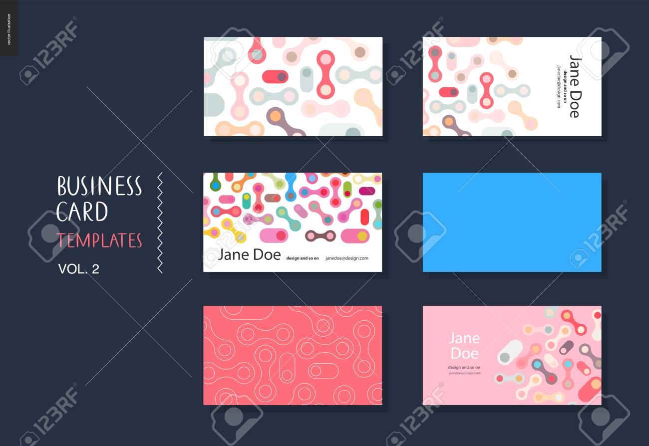 Business card template volume 2 design template with rounded business card template volume 2 design template with rounded abstract shapes for designers stock vector cheaphphosting Image collections