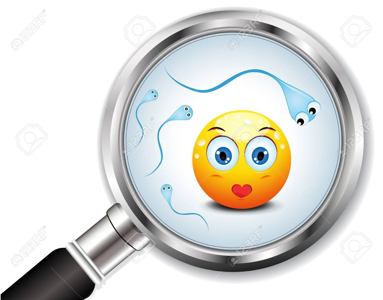 Concept symbolizes human egg and sperms Vector illustration - 25244418