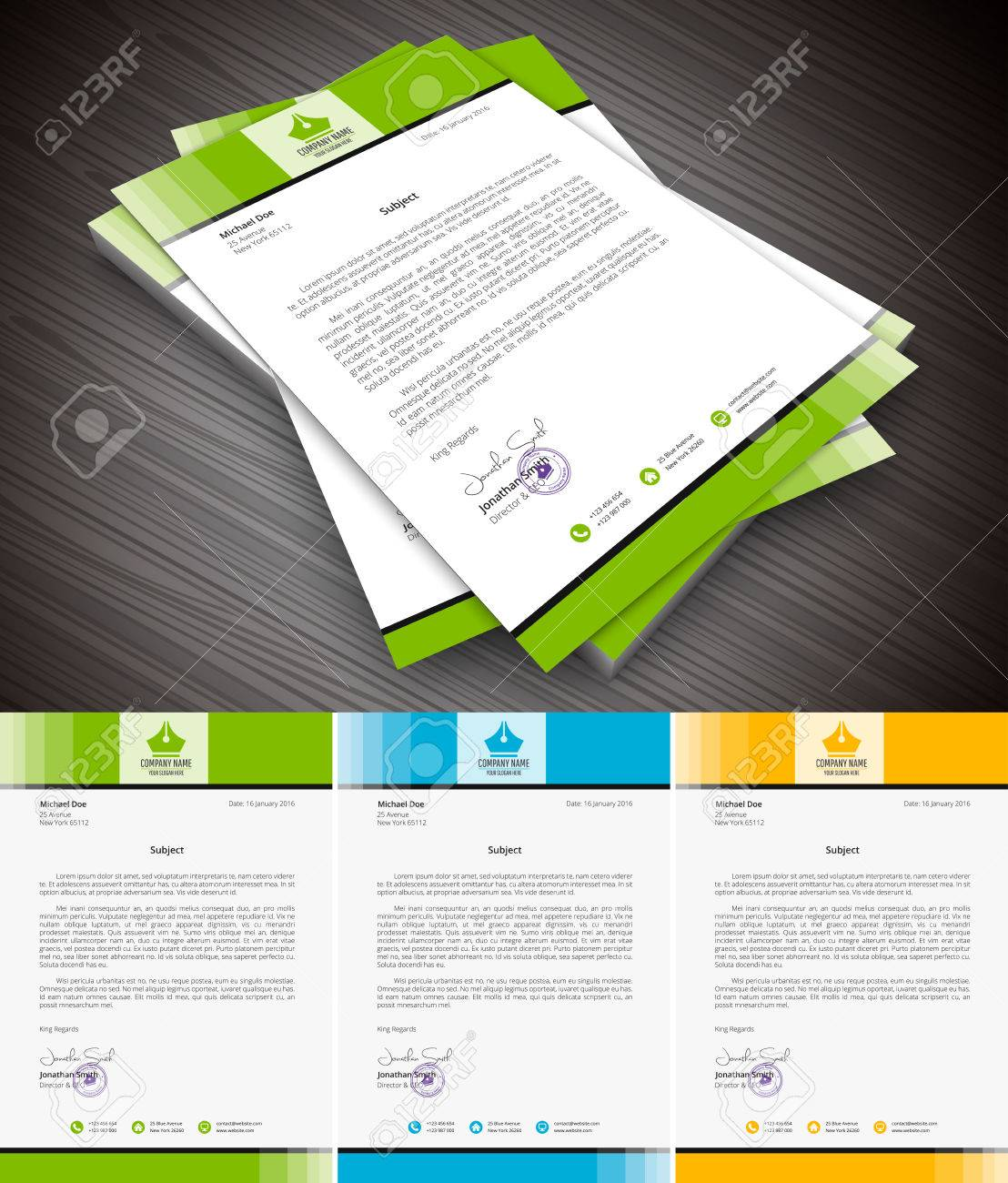 This is simple and creative letterhead for business and personal purpose usages. Well organized and layered. Easy to edit. - 52985128